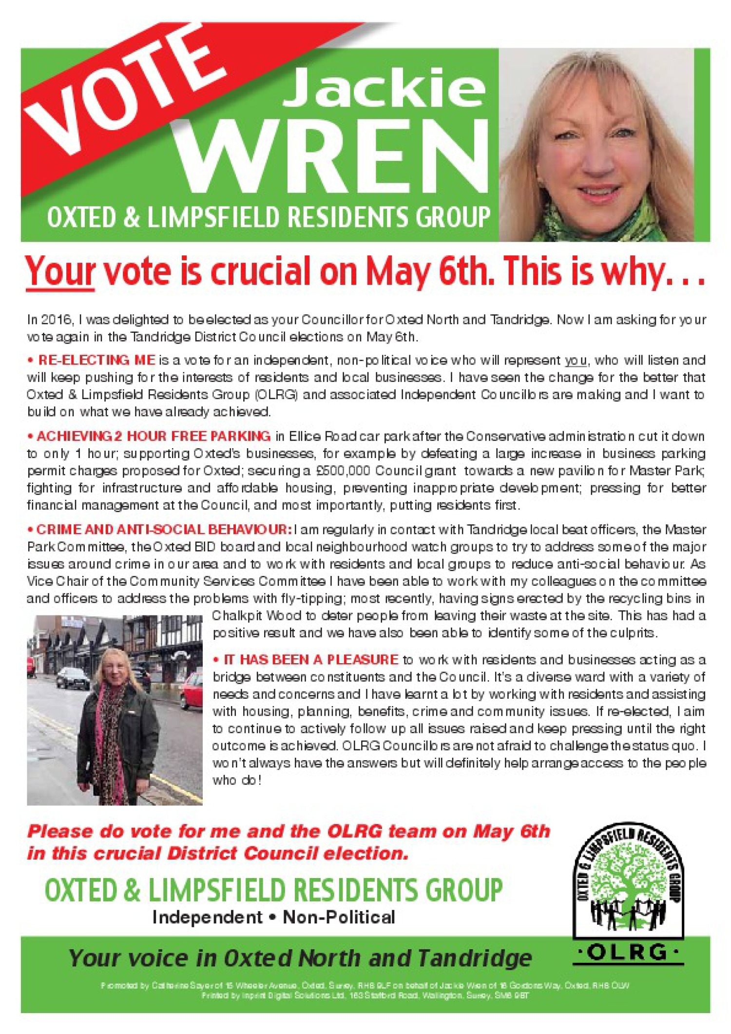 Jackie's election leaflet