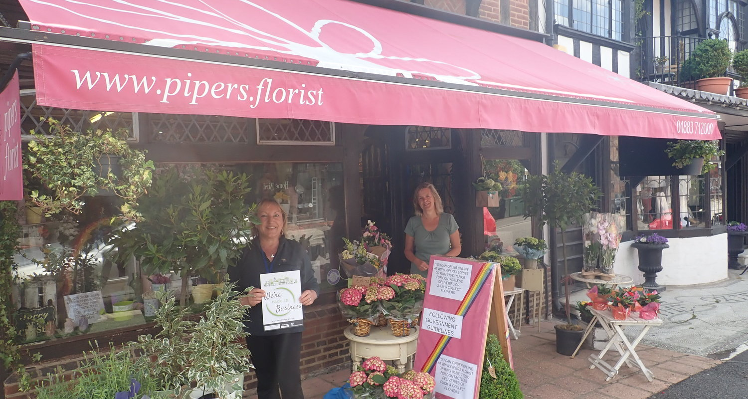 Outside Pipers Florist
