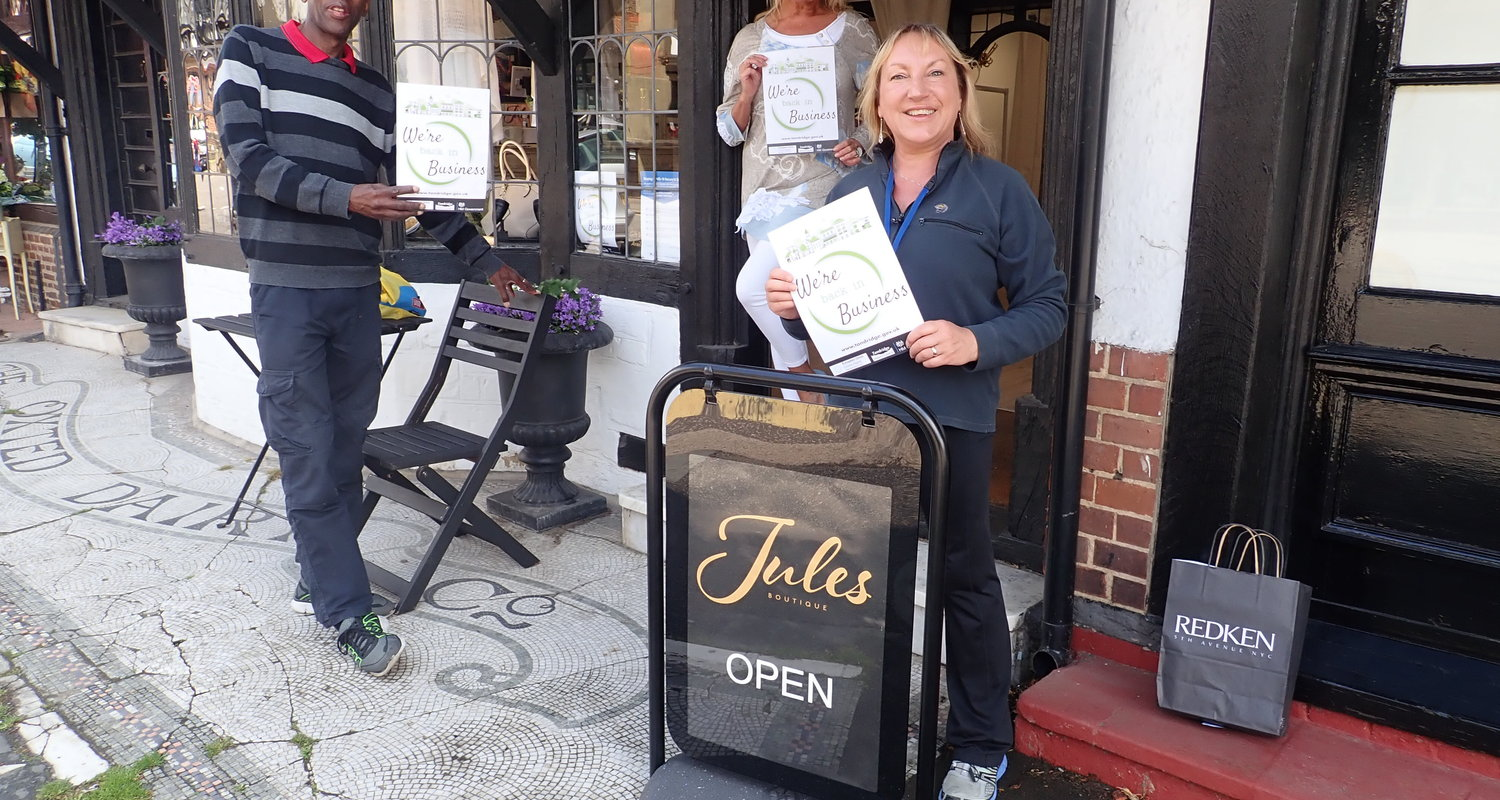 Outside Jules with owner Julie Dennis